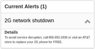 AT&T 2G network shutdown.