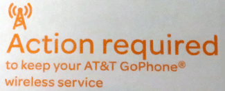 Action required to keep your AT&T GoPhone wireless service