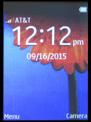 Nokia 220 home screen