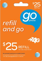 AT&T GoPhone refill card